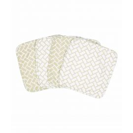 10209: GEOMETRIC FOUR-PIECE TERRY WASHCLOTH SET