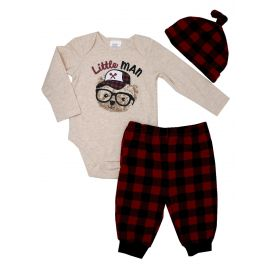 BOYS 3PC SET: LITTLE MAN