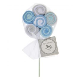 12 Pack Lollipop Washcloth: Blue