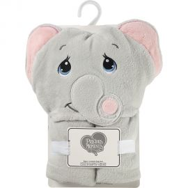 PRECIOUS MOMENTS: HOODED BLANKET GREY