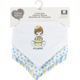 PRECIOUS MOMENTS: 3 PACK TRIANGLE BIB- #SWEET
