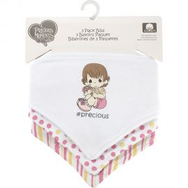 PRECIOUS MOMENTS: 3 PACK TRIANGLE BIB- #PRECIOUS