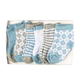 Argyle 6 Pack Socks: Blue