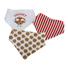 3 Pack Triangle Bib: smart Cookie