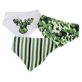 3 Pack Triangle Bib: Green Camo