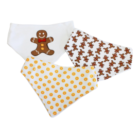 3 Pack Triangle Bib: Gingerbread