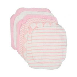 12 PACK WASHCLOTH : PINKPLAID
