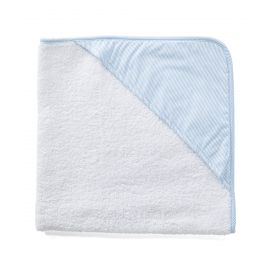 Striped Hooded Towel - Blue
