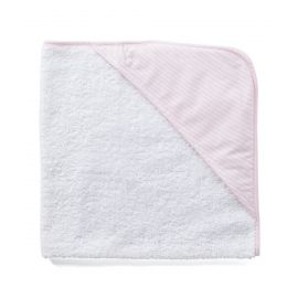 Striped Hooded Towel - Pink