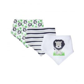3 PACK BANDANA BIB: LION