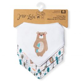 3 Pack Bandana Bib:Bear