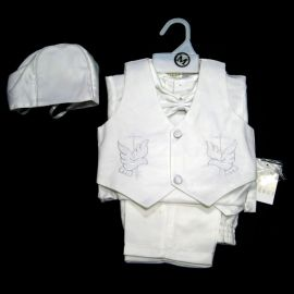 5035:5 Pc. Boys Christening Outfit