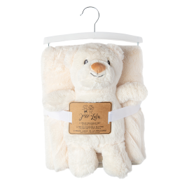 FLAT ANIMAL TOY WITH BLANKET : BEAR