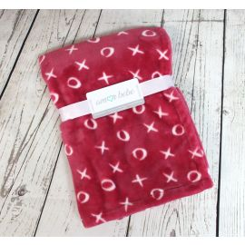 coral Fleece Blankets - Kisses and Hugs
