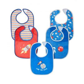 5 Pack Terry Bib: Space
