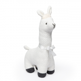 Cable Knit Animal: Llama Ivory