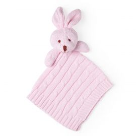 Knit Security Blanket Bunny -Pink