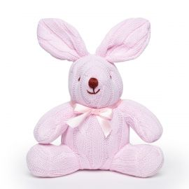 Cable Knit Bunny -Pink