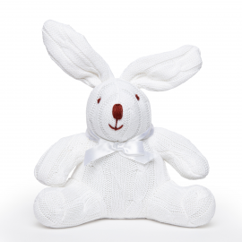 Cable Knit Bunny -White