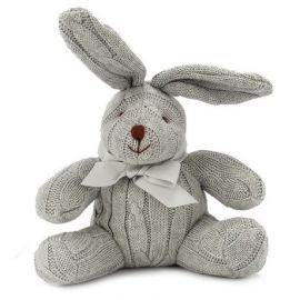 Cable Knit Bunny -Grey