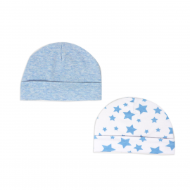 2 Pack Heather Hat: Blue