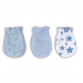3 Pack Heather Mitts: Blue