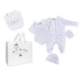 NEUTRAL 5 PIECE SET IN MESH BAG WITH GIFT BAG: TOY BOX