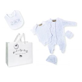 NEUTRAL 5 PIECE SET IN MESH BAG WITH GIFT BAG: STAR BEAR