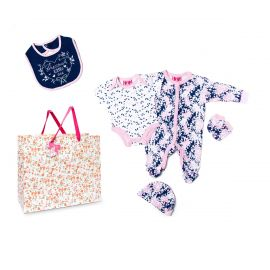 GIRLS 5 PIECE SET IN MESH BAG WITH GIFT BAG: PRECIOUS LITTLE ONE