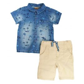 M14737: 2 PIECE PALM TREE SHORT SET