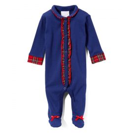 "GIRLS SLEEPSUIT ""NAVY WITH TRIM"""