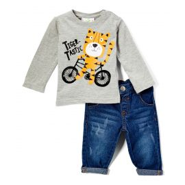 BOYS 2 PIECE TIGER JEAN SET