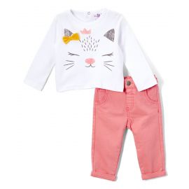 "GIRLS JEAN SET "" KITTY"""