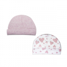2 Pack Heather Hat: Pink