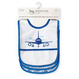 3 Pack PEVA Bibs: Airplane