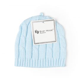 Cable Knit Hat- Blue