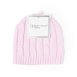 Cable Knit Hat- Pink