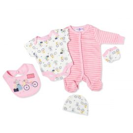 GIRLS 5PC VELOUR SET:  MOUSE