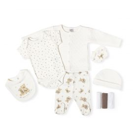 NEUTRAL QUILTED 9PC SET: PHOTOPRINT BEAR