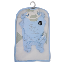 BOYS 5 PIECE SET IN MESH BAG WITH GIFT BAG: ELEPHANT