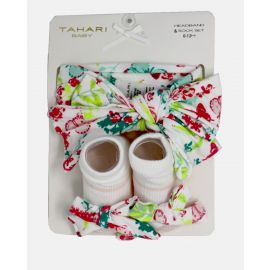 HEADBAND AND SOCK SET : MULTI FLORAL