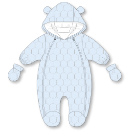 BOYS QUILTED SNOWSUIT : HEXAGON